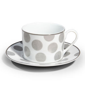 Maisons du monde - tasse et soucoupe mixed pois - Tasse � Caf�