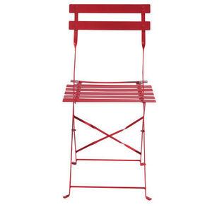 Maisons du monde - lot de 2 chaises rouges guinguette - Chaise De Jardin