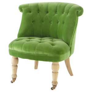 MAISONS DU MONDE - fauteuil velours vert constantin - Fauteuil