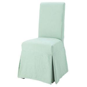 Maisons du monde - housse lin vert d'eau margaux - Chaise