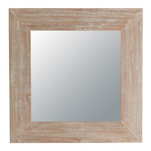 Maisons du monde - miroir natura cérusé carré - Miroir
