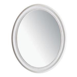 MAISONS DU MONDE - miroir louis ovale blanc - Miroir