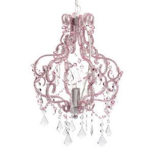 Maisons du monde - lustre rose nymphe - Lustre