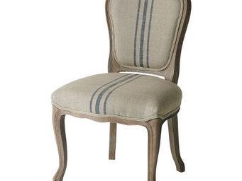 Maisons du monde - chaise rayures bleues adélaïde - Chaise