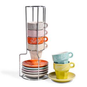 Maisons du monde - support 6 tasses et soucoupes restaurant - Porte Tasses