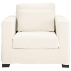 Maisons du monde - fauteuil coton ivoire milano - Fauteuil