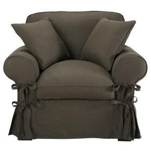MAISONS DU MONDE - fauteuil lin taupe grisé butterfly - Fauteuil