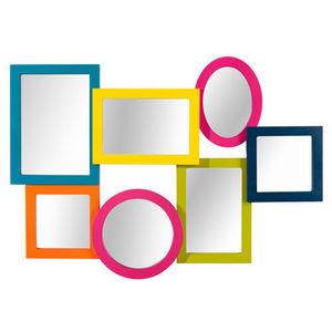 Maisons du monde - miroir micmac multicolore - Miroir
