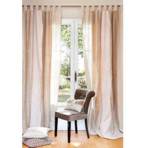 rideaux passants metallise inox foin cotte de mailles. Black Bedroom Furniture Sets. Home Design Ideas