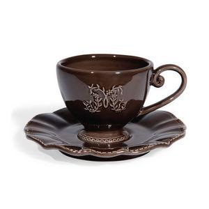 Maisons du monde - tasse et soucoupe à café marron bourgeoisie - Tasse À Café