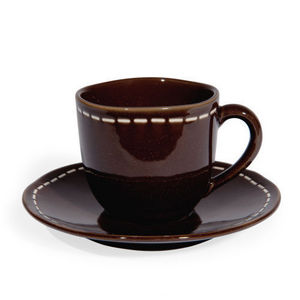 Maisons du monde - tasse et soucoupe à café sellier - Tasse À Café