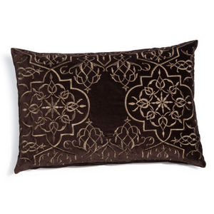 Maisons du monde - coussin ramayana taupe - Coussin Rectangulaire