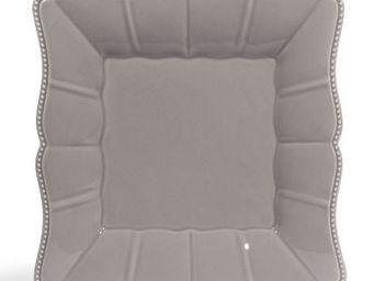 Maisons du monde - assiette plate grise castel - Assiette Plate