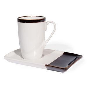 Maisons du monde - tasse et soucoupe � caf� orion blanche - Tasse � Caf�