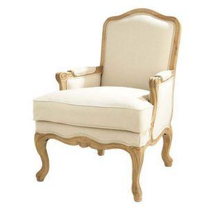 Maisons du monde - fauteuil chêne château - Fauteuil