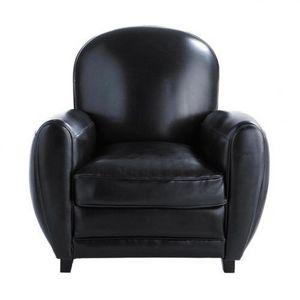 Maisons du monde - fauteuil noir oxford - Fauteuil
