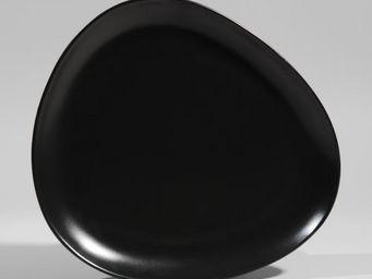 Maisons du monde - assiette plate galet noir - Assiette Plate