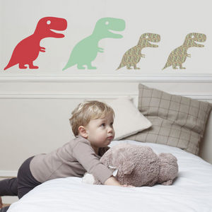 ART FOR KIDS - stickers famille happy dino - Sticker D�cor Adh�sif Enfant