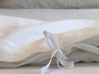 TERRE DE FEMMES - housse de couette en lin blanc bora - Housse De Couette