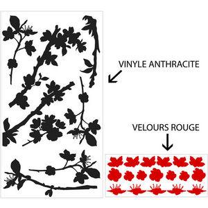 ALFRED CREATION - sticker velours - cerisier bi-color - Gommettes