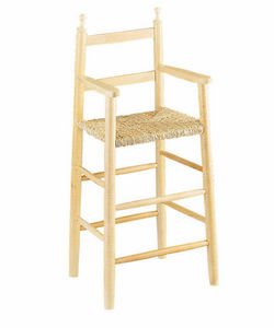 Aubry-Gaspard - chaise haute pour enfant en h�tre blanchi - Chaise Haute Enfant
