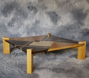 DAAN KOERS �B�NISTE - table basse - Table Basse Carr�e