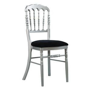 DECO PRIVE - chaise napoleon iii empilable argent et noire - Chaise