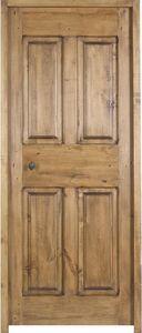 Portes Anciennes - modèle louis xiii 4 panneaux tilleul - Porte De Communication Pleine