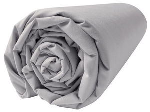 BLANC CERISE - drap housse - percale (80 fils/cm�) - uni gris per - Drap Housse