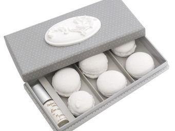 Mathilde M - boîte médaillon macarons, parfum fleur de coton - Parfum D'intérieur