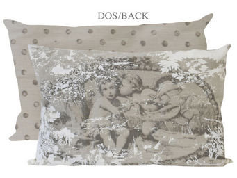 Mathilde M - coussin rectangulaire romance anges au baiser - Coussin Rectangulaire
