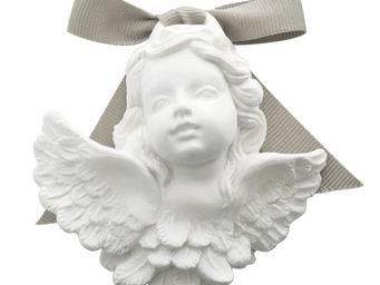 Mathilde M - tête d'angelot à suspendre, parfum poudre de riz - Parfum D'intérieur