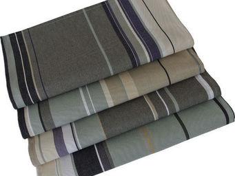 Les Toiles Du Soleil - serviette de table rue du bac gris - Serviette De Table