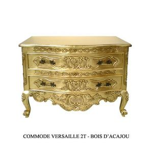 DECO PRIVE - commode en bois dore modele versailles - Commode