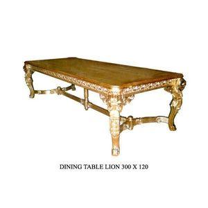 DECO PRIVE - lion - Table De Repas Rectangulaire