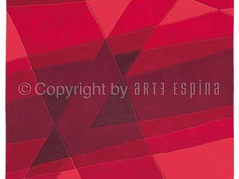 Arte Espina - tapis de chambre luminous rouge 120x180 en acryliq - Tapis Contemporain