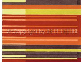Arte Espina - tapis de chambre colour codes rouge 120x180 en acr - Tapis Contemporain