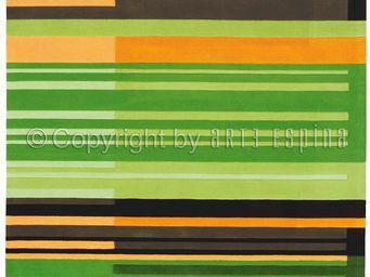 Arte Espina - tapis colour codes vert 200x300 en acrylique - Tapis Contemporain