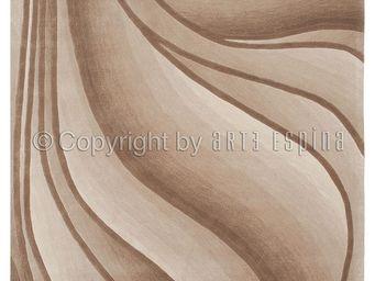 Arte Espina - tapis de chambre in motion beige 120x180 en acryli - Tapis Contemporain