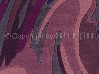 Arte Espina - tapis de petit tapis action painting violet 70x140 - Tapis Contemporain