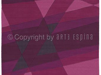 Arte Espina - tapis de salon luminous 1 violet 170x240 en acryli - Tapis Contemporain