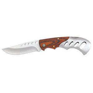WHITE LABEL - couteau cabr�s� bois et m�tal 1er choix - Couteau De Cuisine