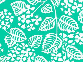 FLEUR DE SOLEIL - tissu hortensia turquoise 160x160 - Tissu D'ameublement