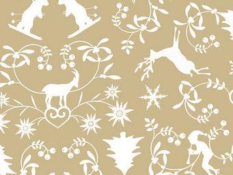 FLEUR DE SOLEIL - tissu montagne chocolat 160x160 - Tissu D'ameublement