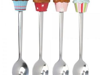 La Chaise Longue - coffret de 4 cuillères à dessert cupcake - Couverts À Dessert