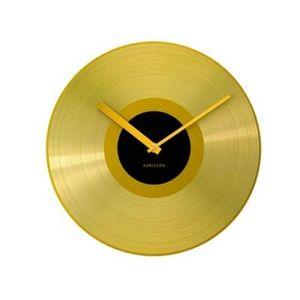 Present Time - horloge disque d'or - Horloge Murale