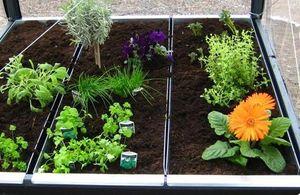 Growcamp - jardinière 120x36x15cm pour potager surélevé - Carré Potager