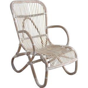 Aubry-Gaspard - fauteuil en rotin patiné nice - Fauteuil De Jardin