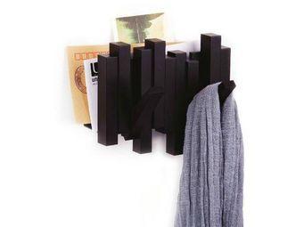 Umbra - porte manteaux sticks noir 2 crochets avec range-c - Portemanteau