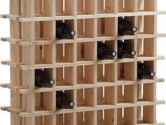 BARCLER - casier à vin en bois 36 bouteilles 71,5x22x71,5cm - Range Bouteilles
